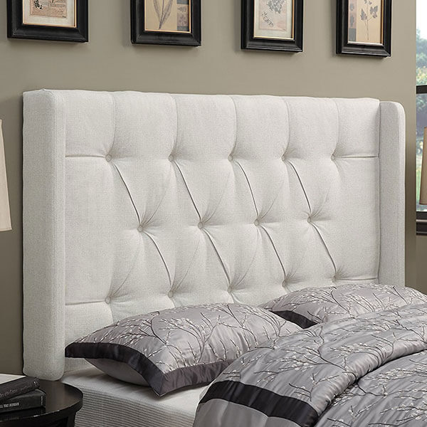 Pulaski Shelter Button Tufted Wingback Headboard, Linen