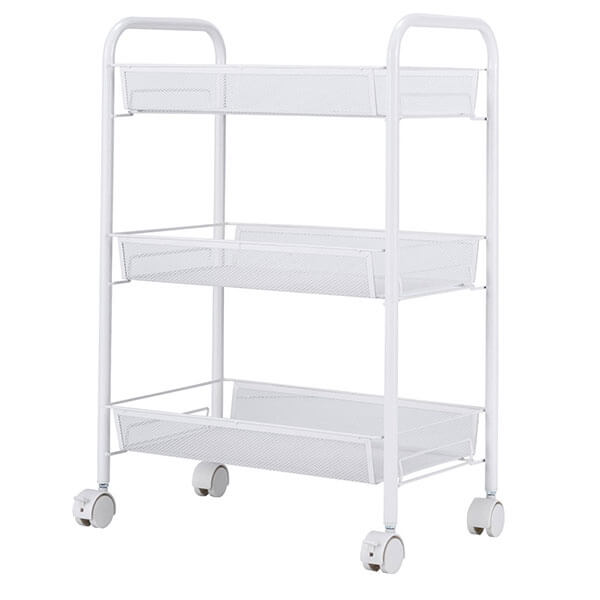 SINGAYE Wire Kitchen Cart, White