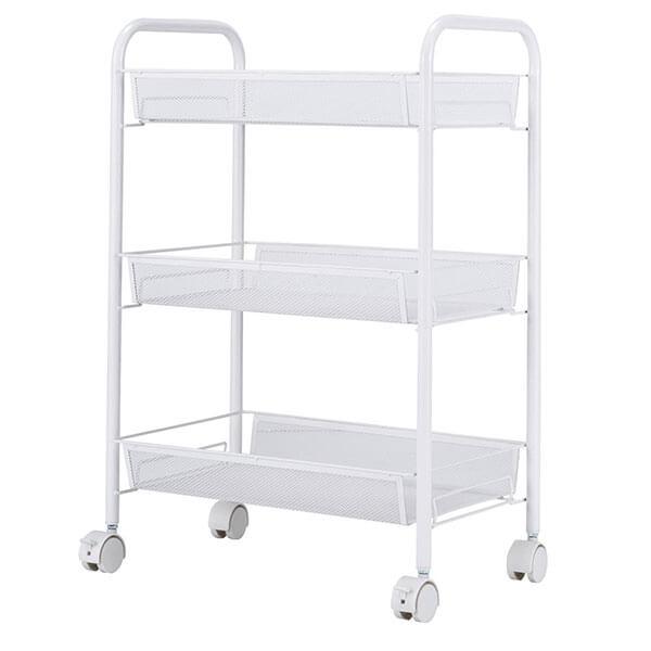 SINGAYE Wire Kitchen Cart, White
