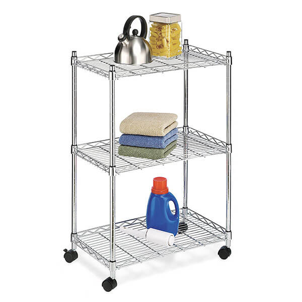 Whitmor Supreme Cart with Wheels, Chrome