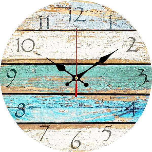 Grazing Rustic Wooden Wall Clock