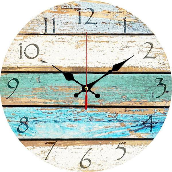 Grazing Rustic Wooden Wall Clock