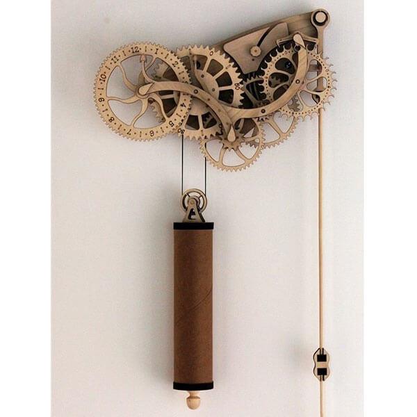 Abong Handcrafted Mechanical Wooden Pendulum Clock Kit