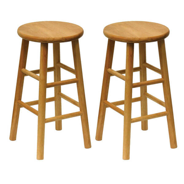Winsome Wood 24-Inch Wooden Counter Stools (Set of 2)
