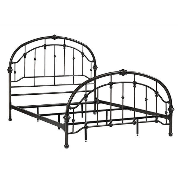 Dorel Living Wrought Iron Bed Frame, Antique Pewter