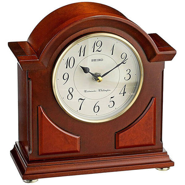 Seiko Brown Wooden Mantel Clock