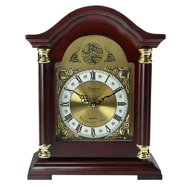 Bedford Clock Collection Redwood Mantel Clock