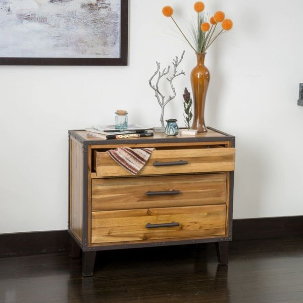 El Paso Mahogany 3 Drawer Nightstand by Christopher Knight Home