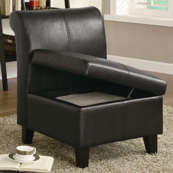Coaster Armless Stationary Chair