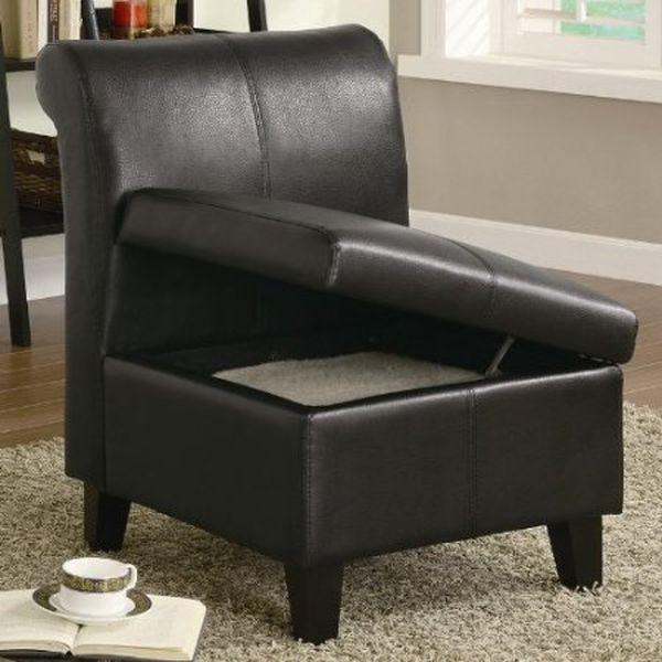 Coaster Armless Stationary Chair