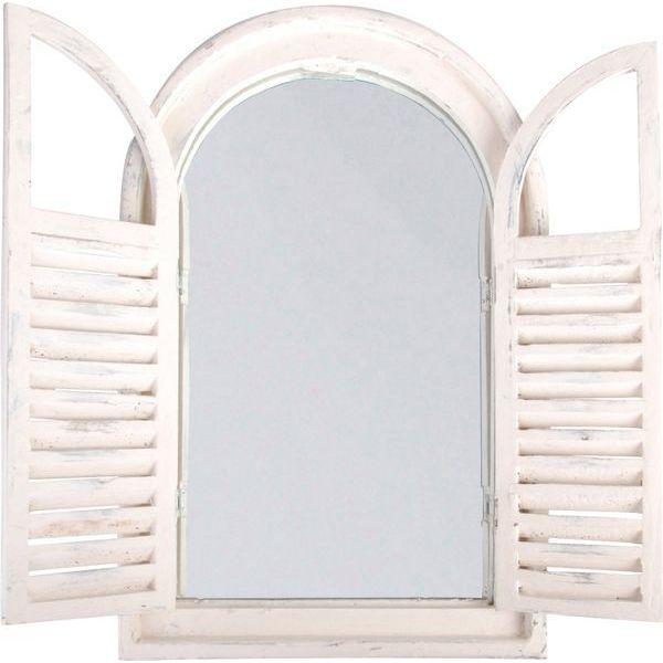 Esschert Design White Window Frame Mirror w/French Doors