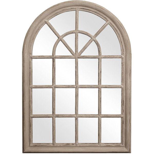 Howard Elliott Fenetre Windowpane Style Arched Mirror