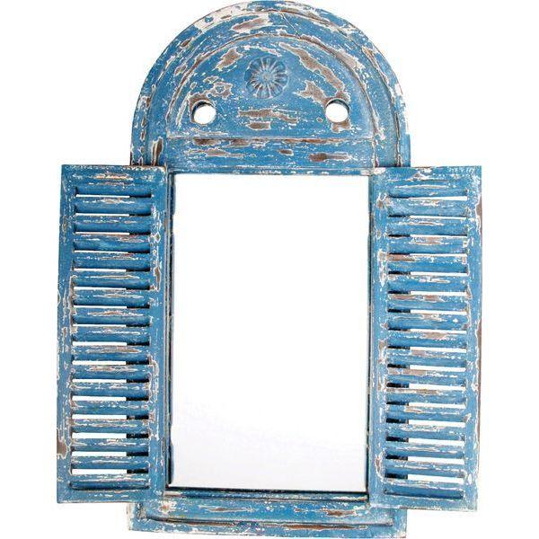 Esschert Design USA Louvre Distressed Mirror