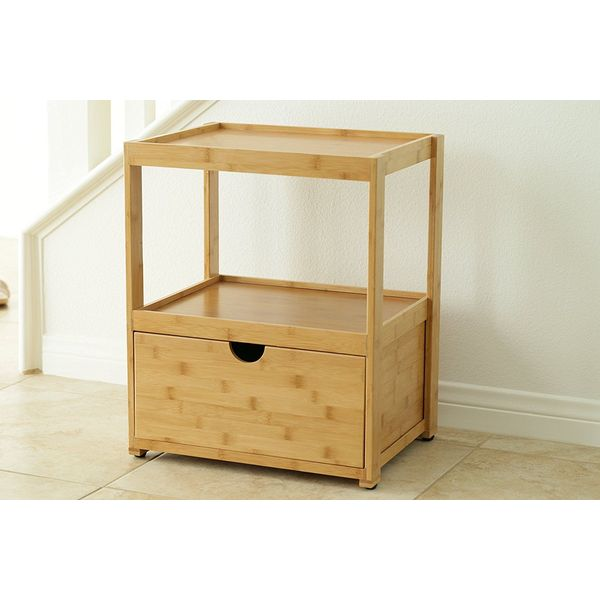 In This Space Natural Bamboo Nightstand