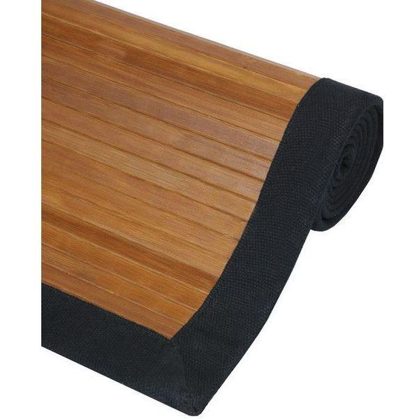 Oriental Furniture Bamboo Rug, Burnt Bamboo