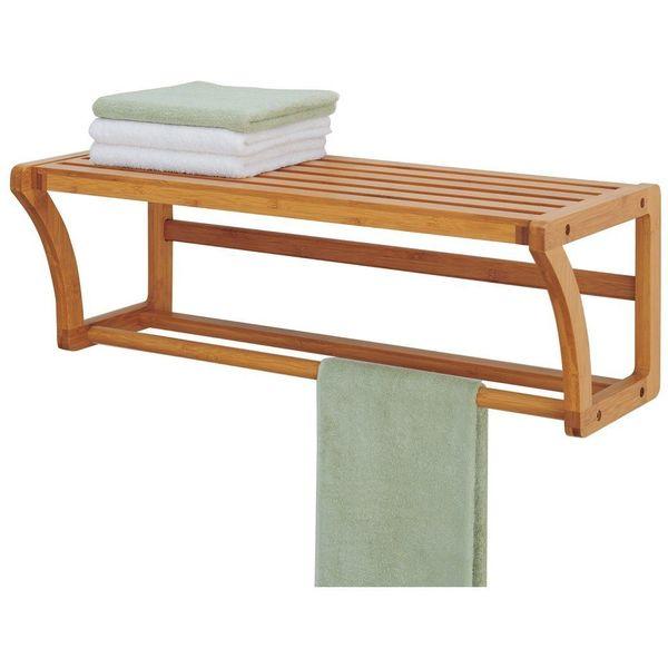 Organize-It-All Lohas Wall Mounting Shelf with Towel Bars