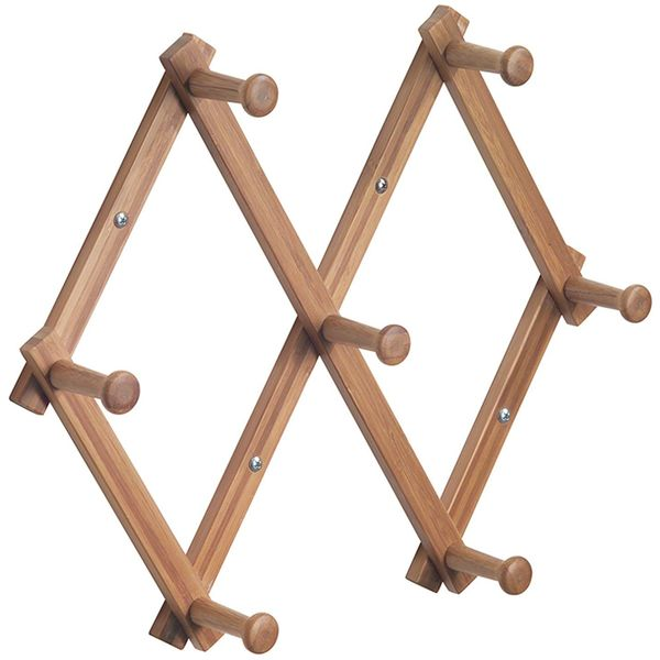 InterDesign Formbu Wall Mounted Bamboo Expanding Rack