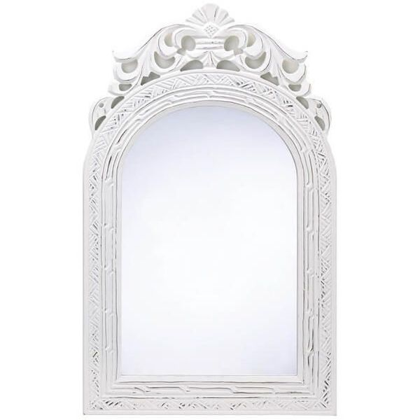 Shabby Chic Wood Arched-Top Wall Mirror