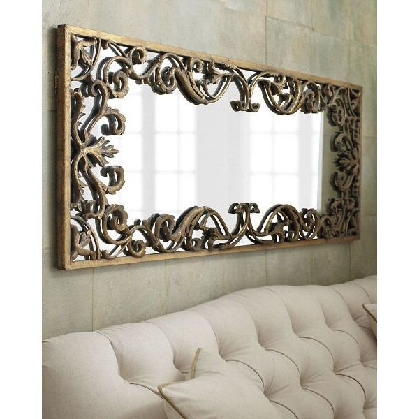 Ornate Baroque Gold Scroll Wall Mirror