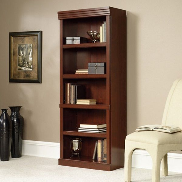 Sauder Heritage Hill 5 Shelves Barrister Bookcase in Classic Cherry Finish