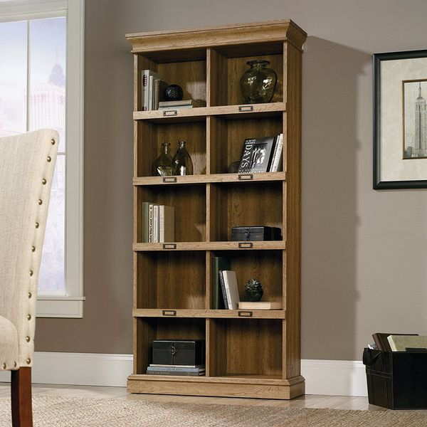 Sauder Scribed Oak Finish Barrister Lane Bookcase
