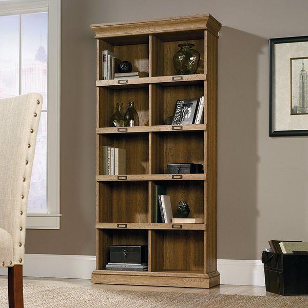 Sauder Scribed Oak Finish Barrister Lane Bookcase