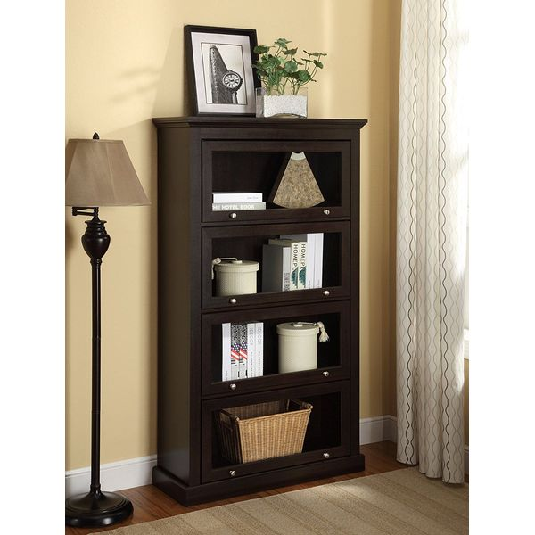 Ameriwood Home Alton Alley 4 Shelf Barrister Bookcase, Espresso