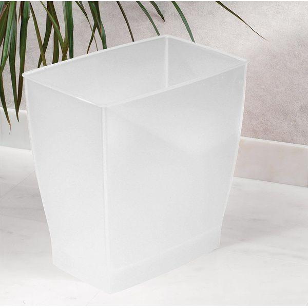 InterDesign 11-Liter Bathroom Trash Can, Frost