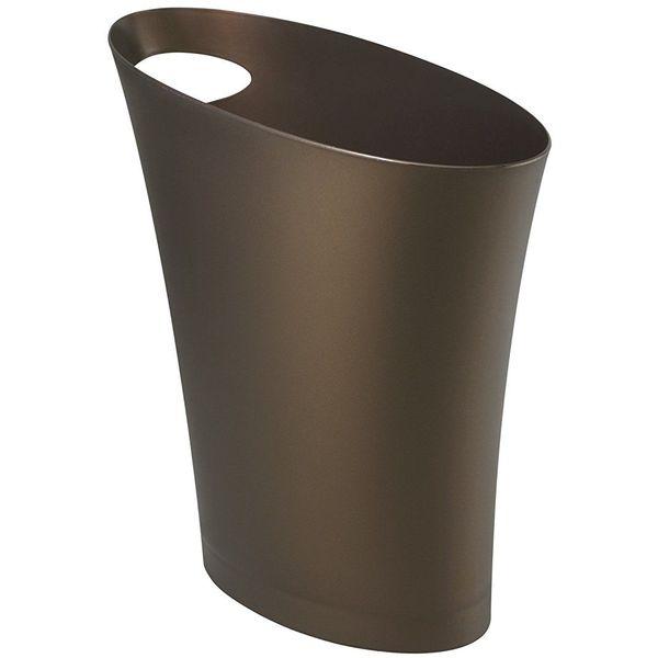 Umbra Skinny Polypropylene Waste Can, Bronze