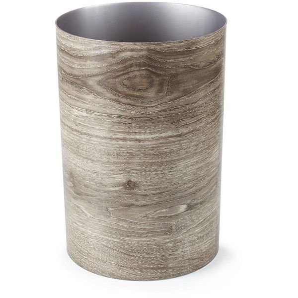 Umbra Treela Waste Bin, 4-1/2-Gallon, Barn Wood