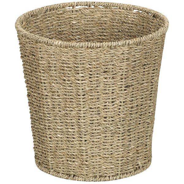 Household Essentials Woven Seagrass Waste Bin
