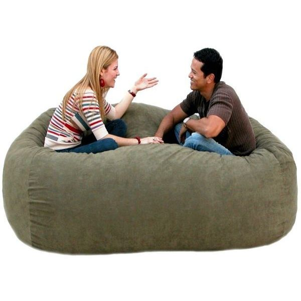 X-Large Olive Cozy Bean Bag Chair Love Seat