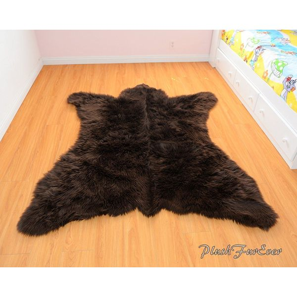 Fur Accents Faux Bearskin Rug