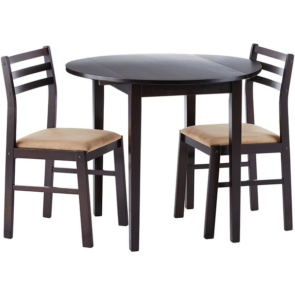 Coaster 3 Piece Dining Set, Cappuccino