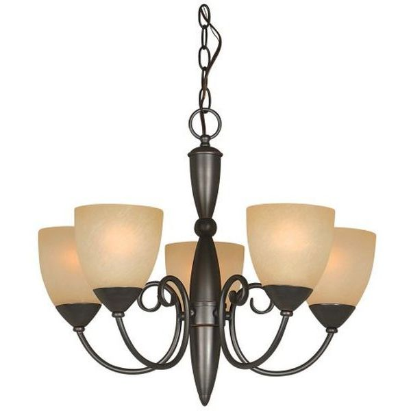 Hardware House Berkshire 21-Inch by 18-Inch Oil-Rubbed Bronze Chandelier
