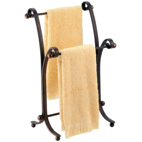 InterDesign York Split Bronze Metal Towel Stand