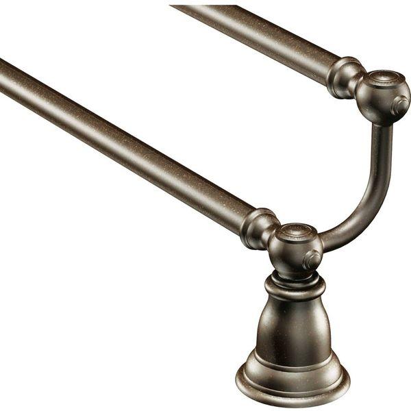 Moen Kingsley 24-Inch Oil-Rubbed Bronze Double Towel Bar