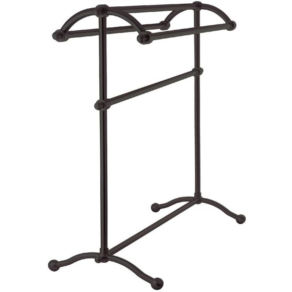Kingston Brass Oil-Rubbed Bronze Pedestal Towel Rack