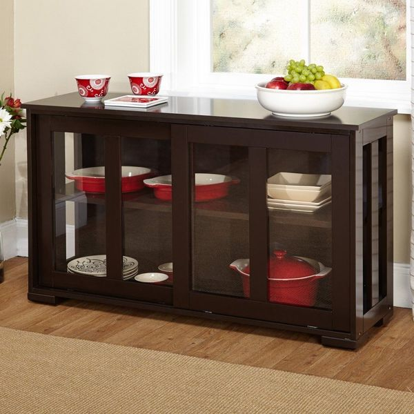 Simple Living Stackable Buffet Cabinet, Espresso