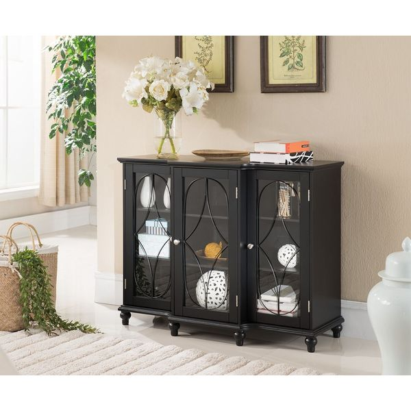 Kings Brand Furniture Sideboard Table, Black