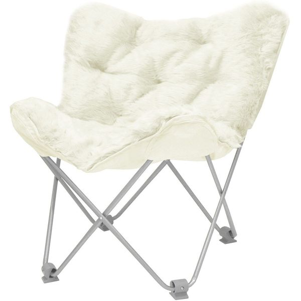 Urban Shop Butterfly Chair, Ivory