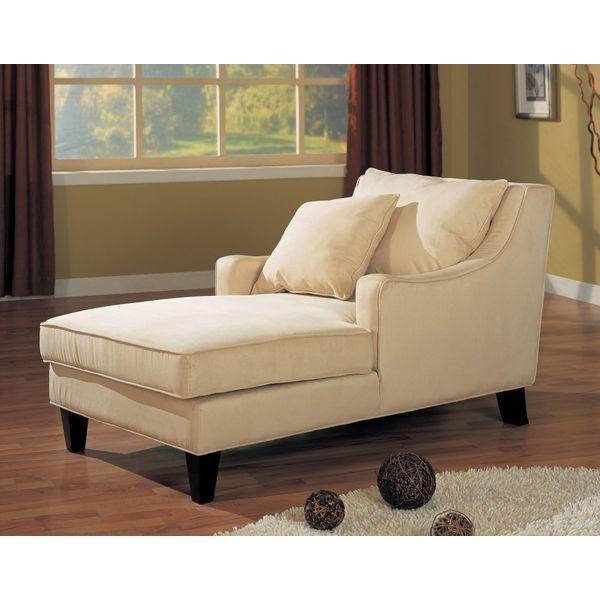 Coaster Comfortable Microfiber Chaise Lounger