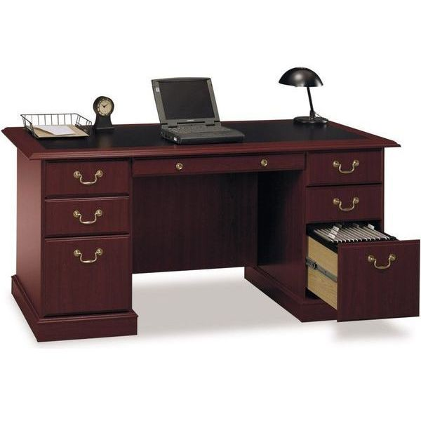 Bush Furniture Saratoga Executive Home Office Wood Manager's Desk