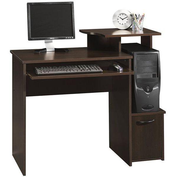 Sauder Beginnings Cinnamon Cherry Computer Desk