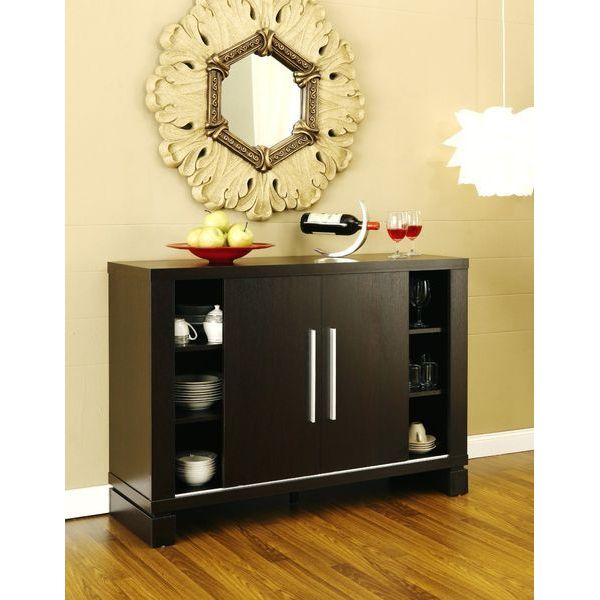 Furniture of America Studio Buffet with Wine Holder, Cappuccino
