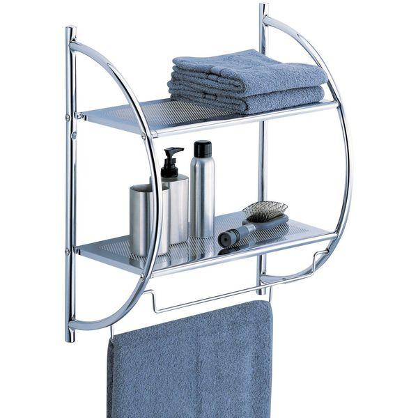Organize-It-All 2-Tier Shelf with Towel Bars