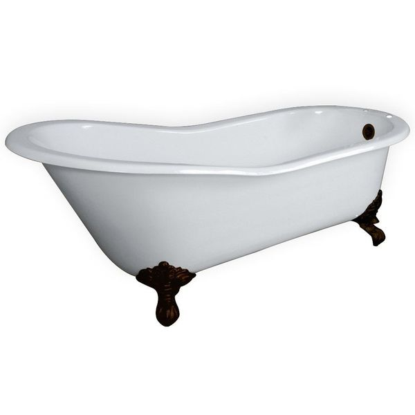 Cast Iron Slipper Tub with Oil Rubbed Bronze Clawfeet