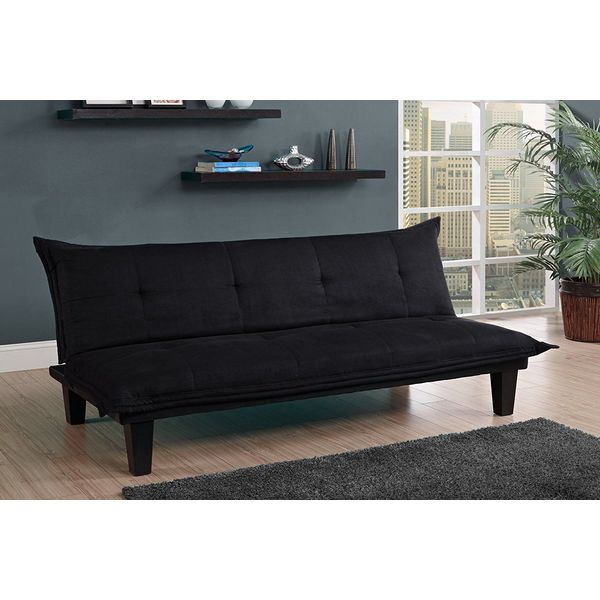 DHP Lodge Convertible Click Clack Futon, Black