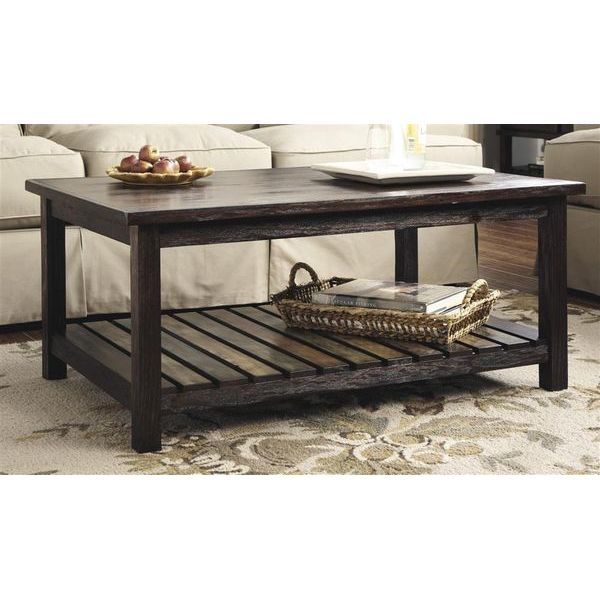 Ashley Cherry Wood Coffee Table: Easy Home Concepts