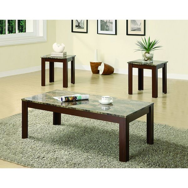 Coaster Fine Furniture 3-Piece Coffee Table and End Table Set